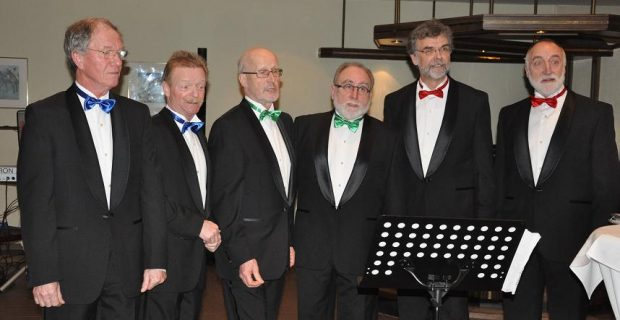 v.l. Hans Kappen (Tenor) Koen Edeling (Tenor) Bernd Völkering ( Bariton) Bernhard Tieke (Bariton) Reinhold Leusing (Bass) Heinz Bösing (Bass)